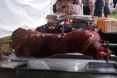 Hog roast, carved and served by our chef.
